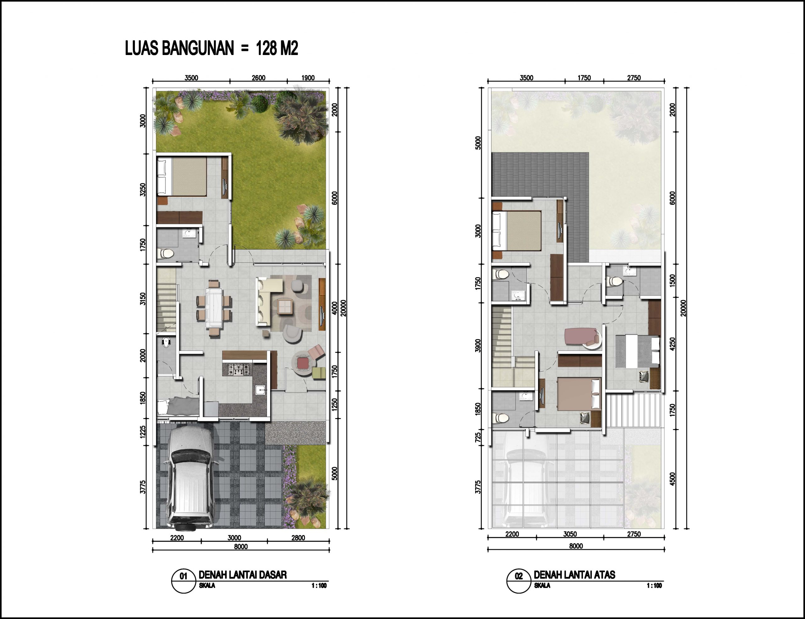 Image Tipe Tipe Cerasus (Luas Tanah 144, 160 & VAR) & (Luas Bangunan 128)
