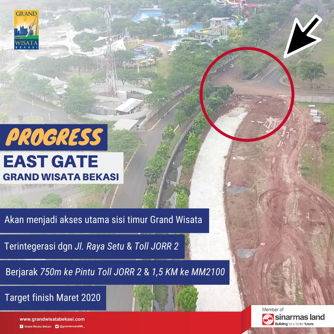 Image Progress East Gate Grand Wisata Bekasi